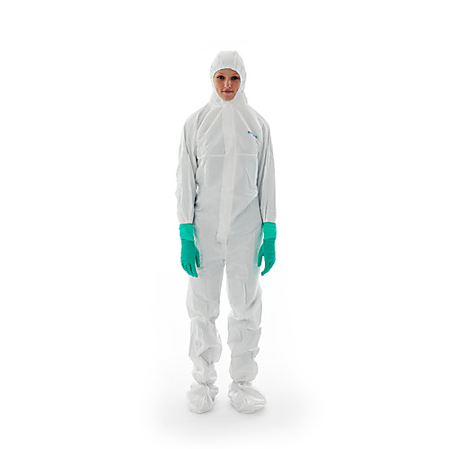 BioClean Coveralls with Hood & Integrated Boots