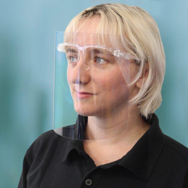 CV12 - 250 Micron APET Face Shield Glasses