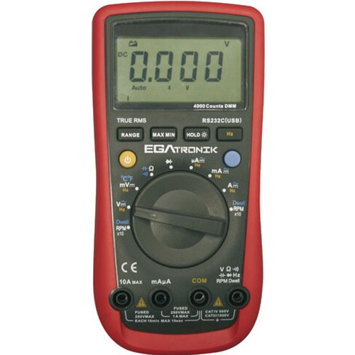 Temperature Automotive Multimeter Egatronik